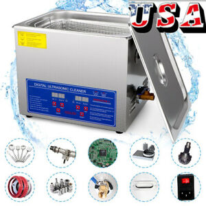 Digital Stainless Steel 3 2l Industry Heated Ultrasonic Cleaner Heater W Timer