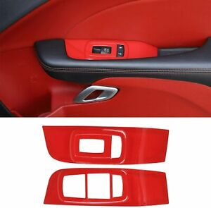 Window Lift Trim Switch Panel Accessories For Dodge Challenger 2015 2019 Red