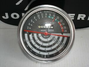 John Deere Ar47910 4000 Tachometer Early Tri Color Tach 69 70 Only Rare Nos