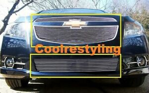 For 2011 12 13 2014 Chevy Cruze Ltz Rs Pakage Billet Grille Combo Inserts Bolton