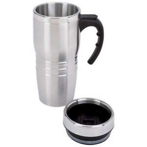 16oz Insulated COFFEE TRAVEL MUG Stainless Steel Liner Thermos Tea Cup Tumbler $8.49