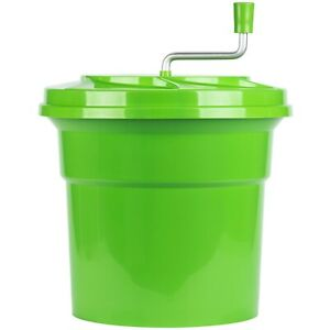 Commercial Restaurant 5 Gallon Manual Plastic Salad Spinner Dryer With Drain