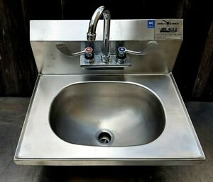 Hand Wash Sink W Faucet Commercial Stainless Steel Nsf 20 X 15