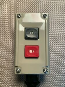 New Kasuga Electric 2 button on off Push Button Switch Wbsh200 Rainproof