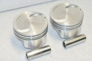 454 Big Block Chevy 40 Oversize Hypereutectic Flat Top Pistons Balanced