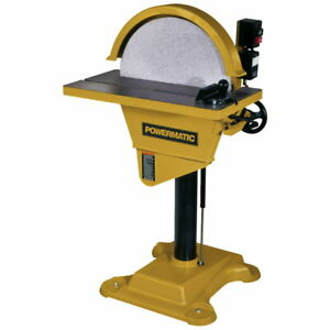 Powermatic 1791264 Ds 20 Disc Sander 3hp Wired 230v Reversing Feature