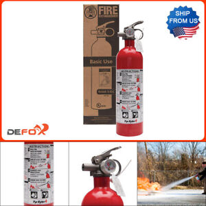 Fire Extinguisher 5 b c Rated Disposable Dry Chemical Emergency Home Garage Safe