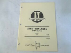 I t Shop Service Allis chalmers 7030 7040 7050 7060 7080 Shop Manual