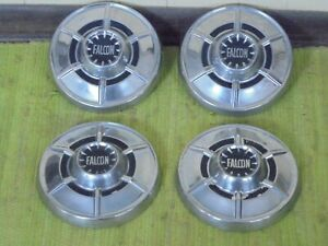 64 65 Ford Falcon Dog Dish Hub Caps 9 1 2 Set Of 4 Hubcaps 1964 1965