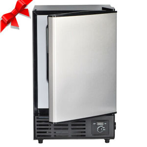 Smad Undercounter Stainless Steel Ice Maker Built in Compact Ice Cubes Machine
