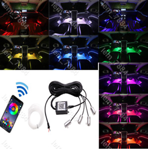 Rgb Car Door Bowl Handle Led Ambient Atmosphere Light Interior Universal 12v