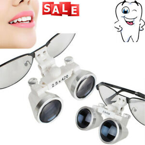 Portable Dental Surgical Medical Binocular Loupes 2 5x420mm Optical Glass Loupe