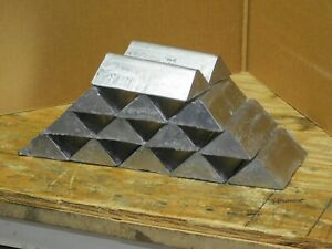 42 lbs Lead ingots for bullet casting sinkers. 6 Brinell Hardness. $90.00