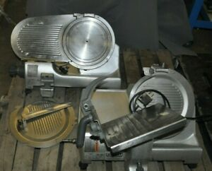Lot Of 2 Hobart 2812 Manual Commercial Meat Deli Cheese Slicers For Parts Or Rep