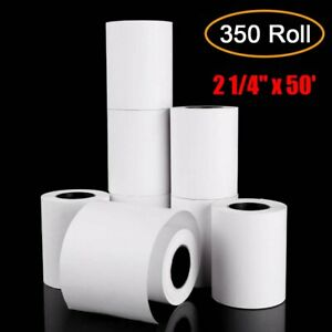350 Roll Pos Paper 2 1 4 X 50 Cash Register Thermal Credit Card Receipt Paper