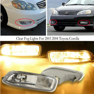 Clear Fog Lights For Toyota Corolla 2003 2004 Bumper Fog Driving Lamps Oe Style