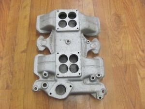 Nos Offenhauser 5183 Dual Quad Aluminum Intake Manifold 394 Oldsmobile Olds