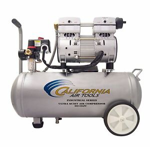 California Air Tools 6010lfc Industrial Ultra Quiet Oil free Compressor Used