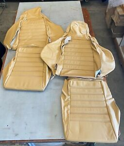 Porsche 911 1974 1980 Front Seat Covers sport Seats Champagne Leather