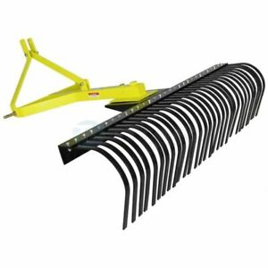 Titan Attachments 5 ft Landscape Rake For Compact Tractor Quick Hitch Compatible