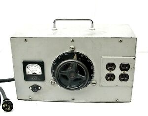 Vintage General Radio 100 91a Variac Variable Autotransformer W triplett Gauge