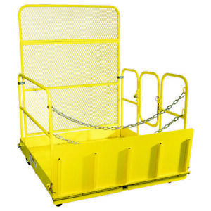 Titan Attachments 54 in Wide Mobile Easy Loading Work Platform