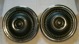 1960 S Original Mercury 15 Hub Caps Wheel Covers Set Of 2