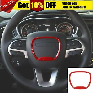 Steering Wheel Cover Trim For Dodge Challenger Charger 2015 Durango 2014 Red