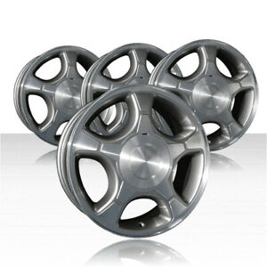 Revolve 17x7 Machined gray 1 Wheel For 04 09 Chevy Trailblazer set Of 4
