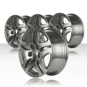 Revolve 16x7 Machined silver Acorn Lug Wheel For 05 10 Honda Odyssey set Of 4