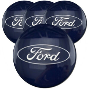 Blue Center Caps With Ford Logo For 2012 2016 Ford Focus 2 13 set Of 4