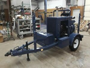 Ch e 4 Towable Diesel Powered Water Trash Pump Only 169 Original Hours