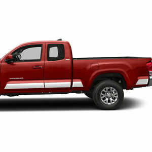 Diamond Grade 8pc 6 Rocker Panels For 2016 21 Toyota Tacoma Extended Cab 6 Bed
