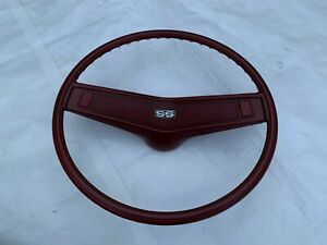 1969 1970 Chevelle Steering Wheel Red Horn Shroud Button Ss Emblem Super Sport