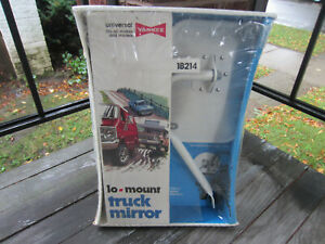Vintage Nos Yankee Lo Mount Truck Mirror White Finish W Box Cool 1970s Grapics