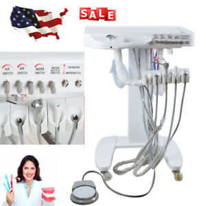 Us 4 hole Dental Delivery Mobile Cart Unit Equipment Work Compressor Compressor