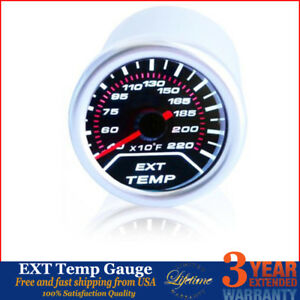 2 52mm Car Led Exhaust Gas Temperature Temp Egt Gauge Meter Pointer Sensor Auto
