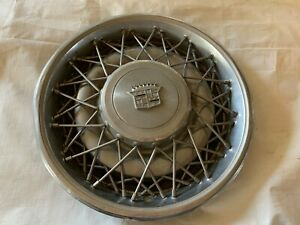 1975 1979 Cadillac Wire Spoke Hubcaps Wheel Covers Hub Caps Chrome