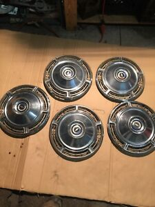 Hub Cap Set 1968 68 Chevrolet Chevy Chevelle 14 Inch Hubcaps Wheel Covers 5