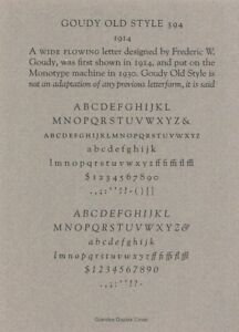 New Letterpress Type 12 Point Goudy Old Style
