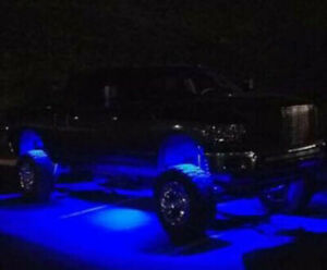 Blue Led Underbody Glow Under Car Accent Rock Neon Light Kit For Toyota Tundra