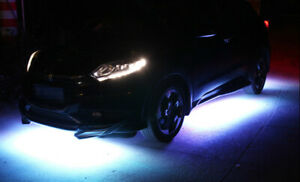 Led White Accent Lights Underbody Neon Under Car Glow Kit For Honda Civic