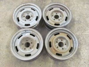 Rare 1967 67 Corvette Dc 15x6 Rally Wheels Rims Set Large Stamp Read