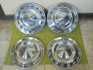 1956 Chevrolet Hub Caps 15 Set Of 4 Chevy Wheel Covers 56 Hubcaps