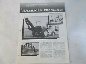 Bradco 600c Trencher 700 Blade 9md Series C Backhoe For Ford 540a Brochure