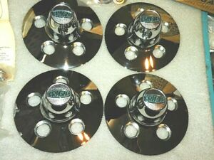 Vintage Cragar Chrome Slotted Mag Wheel Hub Covers With Lugs 1968 Nos