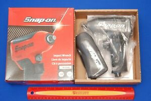New Snap On 3 8 Gun Metal Grey Super Duty Air Impact Wrench W Boot Muffler