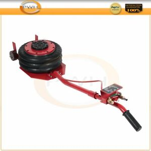 Triple Bag Air Jack 6600lbs 3ton Quick Lift Heavy Duty Jacking Red High Quality