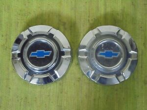 69 70 71 72 Chevy Truck Dog Dish 10 1 2 Hubcaps Set Of 2 C10 1 2 Ton 15