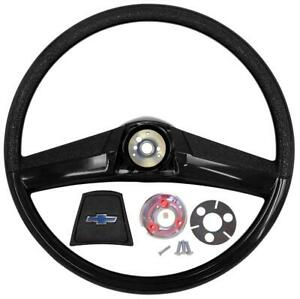1969 1970 1971 1972 Chevy Truck 15 Inch Smaller Classic Black Steering Wheel Kit